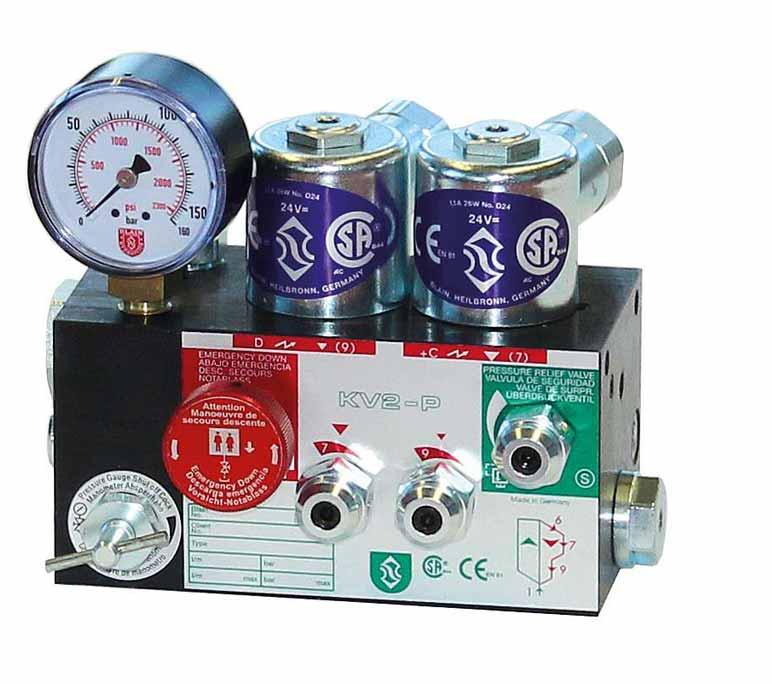 Elevator control valve